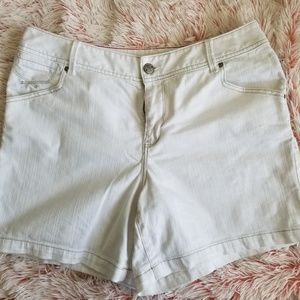 Womens Jeans Shorts Plus Size 14 Cream Beige